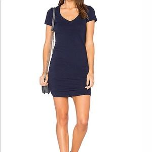 Michael Stars cotton modal  ruched dress small